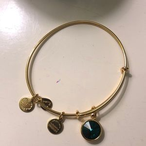 Alex and Ani emerald green energy bracelet